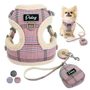 Macio Pet Dog Arreios Vest Sem Puxe ajustável Leash chihuahua Cat Harness Brasão Set Para Menor Médio Dogs Arnes Perro