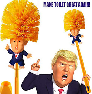 New Donald Trump Toilet Brush - Novelty Bowl Cleaner for Household Bathroom - Funny President's Head Cleaning tools