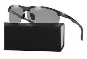 2020 novos homens designer de óculos de sol de alta qualidade da moda retro óculos polarizados aviador cor de alumínio e magnésio esportes mudança óculos de sol