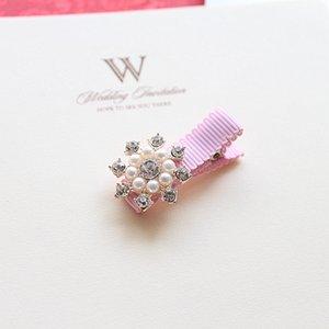 Creati Crown Pearls Baby Hairpins Hair Accessories Bowknot Princess Hairpins Girls Headwear Kids Headdress Children Hair Clips