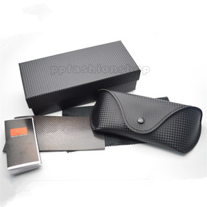 Original plaid brand glasses black case sunglasses Leather case sunglasses box glasses black cloth manual box set