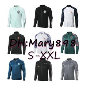 Süper kalite Milli Takım Futbol Takımları / eşofman 2020 İspanya Arjantin Fransa Hollanda İtalya eğitim giyim / satılır Ceket S-XXL