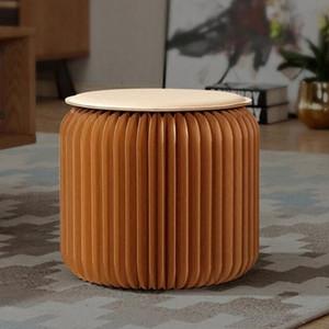 Portable pliant Papier Kraft Tabouret Honeycomb Structure du papier Canapé Chaise