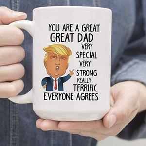 copo caneca de cerâmica Caneca engraçada Trump Donald para pais Mom grande presente Papai presente para o pai Copa do Dia copo LJJK1765