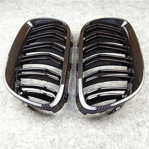 Пара Для E92 Двойная линия передняя решетка подходит для Bmw 3 серии ABS Глянцевый черный / M Цвет почек гриль решетка 2010-2013