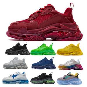 2020 Новое прибытие моды Тройной Mens женщин кроссовки кроссовки Clear Подошва Red Des Chaussures Triple-S Беговая Прогулки Кроссовки Обувь