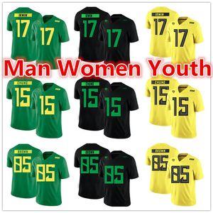 personalizado feito NCAA Oregon Ducks jerseys Mike Irwin 17 Patrick Chung 15 Faraó Brown 85 jersey qualquer nome número de tamanho S-5XL