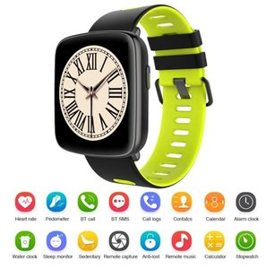 Gv68 smart watch su geçirmez ip68 nabız bluetooth smartwatch ios android için değiştirilebilir askıları ile yüzme