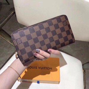 Hot Sell Fashion Folding Letter double zippers Purse Wallet Men Women Black Wallets Bags