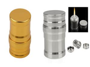 Mini lampe à alcool en aluminium Smoking Sliver Gold Edition acier inoxydable lampes à alcool en métal pour narguilé accessoires huile plate-forme bong bol