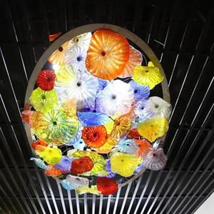 Moderne Kristall-LED-Deckenleuchten Fixture Round Surface Mounting Murano Glas-Blumen-Deckenleuchte Flur Korridor Asile Kronleuchter Licht