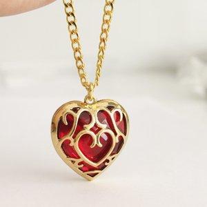 Zelda Coeur pendentif en cristal Collier Mode Femme Cartoon Amour Porte-clés Lady Anime Film Bijoux Cadeau Fête