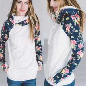 Мода Женская с длинным рукавом хлопок цветочные повязки толстовка толстовка теплый джемпер негабаритных пуловер топы пиджаки одежда толстовки