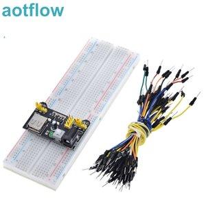 3,3 V / módulo de alimentación 5V MB102 Breadboard + MB102 830 puntos de mesa Prototype pan para Arduino kit +65 cables de puente al por mayor para Arduino Kit