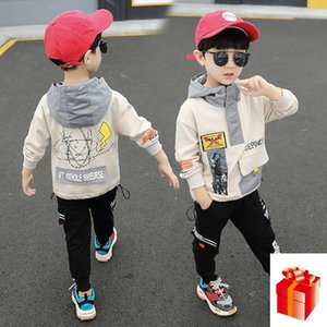 Children's Wear Children's Spring  Autumn Suit Boys Hooded Jacket + Trousers Two-piece Suit 2 4 6 8 Years Old Kids Clothes Sets