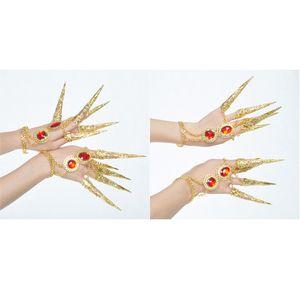 4x Femmes Danseuses doigt Bijoux Belly Dance Nail Finger Thai