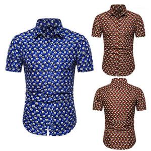 Tops Casual Mens Designer Shirts Fashion Lapel Neck Short Sleeve Thin Shirts Mens Summer Beach Vacation