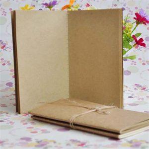 كرافت دفتر غير مذكورة مجلات السفر براون أبيض صفحات فارغة كرافت غطاء دفتر الدفاتر اليومية ورقة الكتابة الدفتري القرطاسية