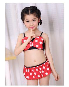 Estate Bikini bambino bambini delle neonate del costume da bagno dello Swimwear del vestito Tankini Beachwear Biquni Swimsuit Biquini Infantil