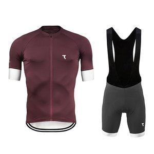 2020 Yeni Bisiklet Jersey Seti Yaz Nefes Bisiklet Giyim Yarış Spor Bisiklet Jersey Ropa Ciclismo Erkek Kaymaz Önlüğü Jel Suit