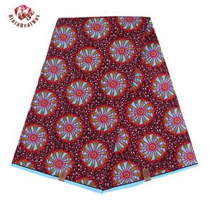 Ankara Cire Polyester Afrique Tissu Impressions 2019 Binta réel cire de haute qualité 6 verges tissu africain pour Party Dress FP6007