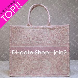 LIVRE TOTE broderie Carryall Designer Femmes Sac à main Top Handle épaule OnTheGo Shopping Plage Casual Luxury Sac Voyage sac en toile IT