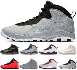 Cement 10 10s Mans Basketball Shoes fusion red tinker-Racer Blue Steel Bobcats Chicago OV cool mens shoes sports trainer Designers sneakers