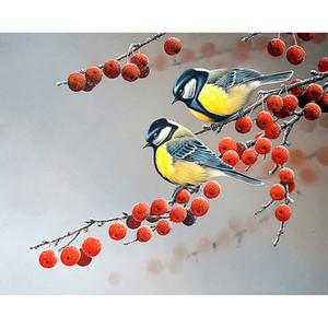 5D DIY pintura de diamante cheio pássaros Festival de Natal pintar redondo ou quadrado broca de diamante kits bordado transversal do ponto de decoração para casa gif