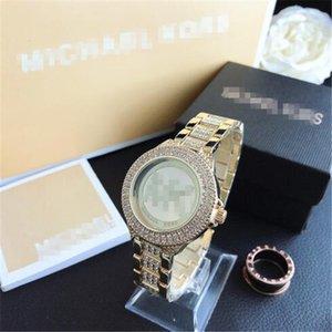 Mens Watches Luxury Womens Watches Fashion Quartz Calendar WristwatchMKStainless Steel Lovers Men Women Watch