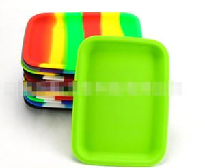20 cm cuadrado de la caja de laminación silicón de la bandeja del envase resistente al calor * 14.5cm de almacenamiento Tabaco bandeja Handroller Tabaquismo Accesorios para herramientas