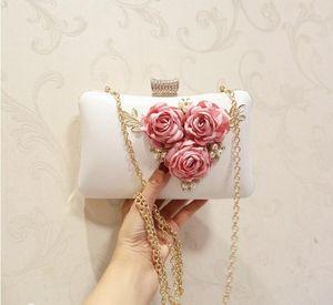 PU الراين مساء حقيبة الزفاف محفظة البنصر الماس سلسلة حقائب الكتف كريستال حقيبة السهرة