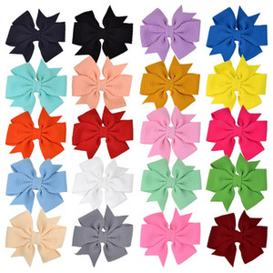 20Pcs Kid Girls 3.5 Inch Solid Hair Bow Hairpin Hair Clip Barrettes Kids Hair Accessories Beautiful HuiLin C386