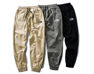 2019 Erkek Joggers Pantolon Sonbahar Erkekler nakış Spor İpli Rahat Eşofman Sweatpants Pantolon Siyah beyaz Jogging Yapan Lüks Pantolon