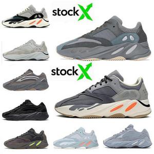 Inércia 700 do corredor da onda Homens Mulheres Designer Sneakers novo hospital azuis 700 sapatos V2 ímã Tephra melhor qualidade Kanye West Esporte Com Box