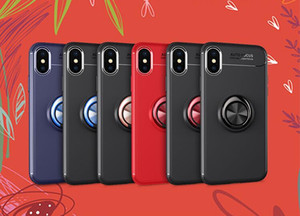 C-ku is suitable for iphone exs mobile phone shell apple XR car bracket ring magnetic-absorbing 7plus soft shell case 8