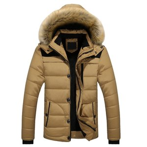 CALOFE Autumn Winter New Men's Coat Male Casual Plus Velvet Thicken Warm Coat Men Hooded Solid Classoc Parka Outwear
