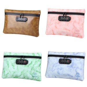 Запах Proof мешки с Password Lock Tobacco сумка Портативный водонепроницаемый Шкатулка Pu хранения Case 30hn UU
