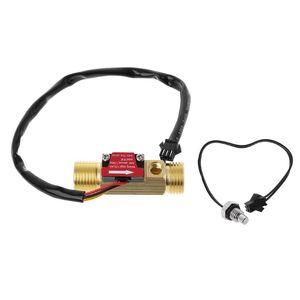 G1 2'' Brass Hall Flow Rate Meter NTC Temperature Measurement Water Flow Sensor Meter