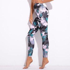 Respirável flor impressão calças de yoga quick dry esporte calças mulheres ginásio de fitness calças de corrida sportswear calças justas leggings yoga