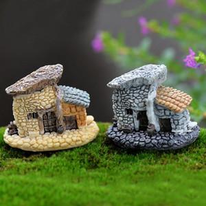 XBJ012 Новые стили 1PC Микро Коттедж Пейзаж Украшение для DIY Смола ремесла Каменный дом Fairy Garden Миниатюрные Craft