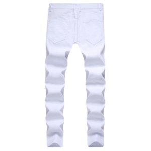 Moda Erkek Jeans 2020 Yeni İlkbahar / yaz New Moda Streetwear Kalça Hopbrand Saf İnce Elastik Jeans Skinny pantolonlar 2 Colores S-4XL-2