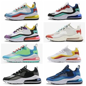 Nike air max 270 Flyknit Utility React Element New Men Women High Quality Fashion Design Sail Light Bone Signal Blue Green Mist Electric Yellow Shets