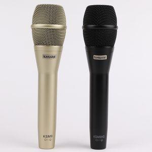2019 أعلى جودة KSM9 المهنية لايف غناء KSM9 الديناميكي السلكية ميكروفون كاريوكي Microfone Supercardioid بودكاست Microfono Mic