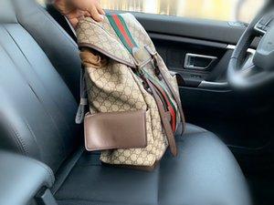 La nuova marca zaino del progettista della borsa zaino di alta qualità a due colori borse scuola cuciture sacchetto esterno dello zaino libero di trasporto 54