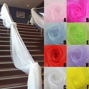 500CM * 48CM Organza Organza puro tessuto per Wedding fondale compleanno della decorazione della fase banchetto decorazione neve filato # T2