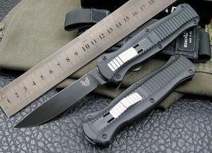 Haut! Couteau à double action automatique BM 3300 3310BK Bonne action Acier EDC BM42 S30V Pointe de lance Couteaux tactiques