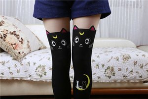 Women Girl Sexy Cat Thigh High Stockings Plus Size Over The Knee Socks Pantyhose