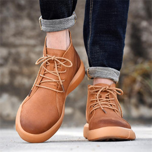 Leather Casual Men Boots For Autumn And Winter Nice PU Leather Boots Men Ankle Summer Winter Shoes 7.10