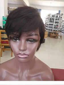 Short Wigs Pixie Cut Short Hair Style Cuts Brazilian Human Short Bob Wig With Baby Hair Wholesale Lace Front Wig For Black Women
