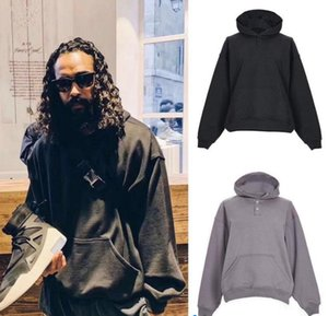 19FW FEAR OF GOD EVERYDAY HENLEY HOODIE Skateboard Street Gray Sweatshirts Couple Tops Oversize Coats Hooded Fashion Hip Hop